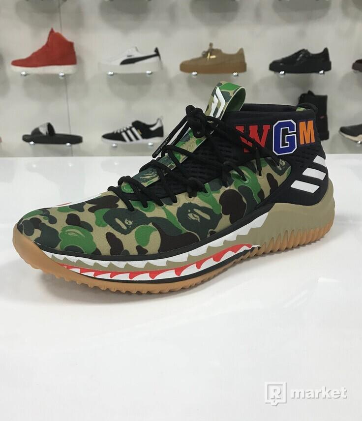 Adidas Dame 4 x Bape Camo Green