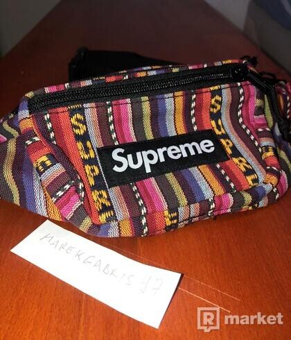 Woven Stripe Waist Bag (Multicolor)