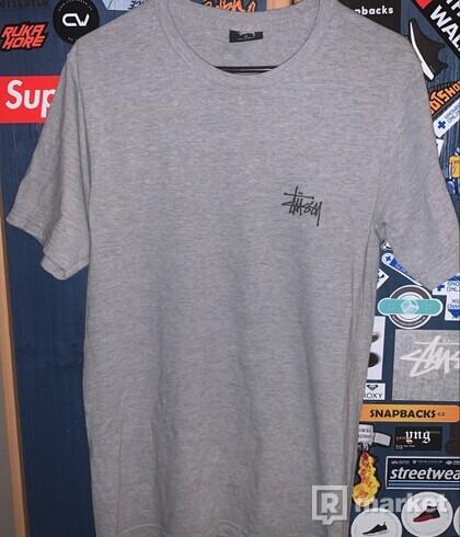 Stussy Basic T-Shirt-Grey Heather