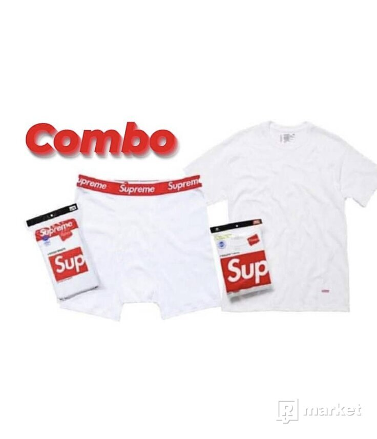 Supreme/Hanes COMBO Tee + Boxers