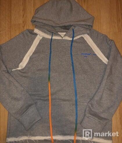 Off white acrylic hoodie