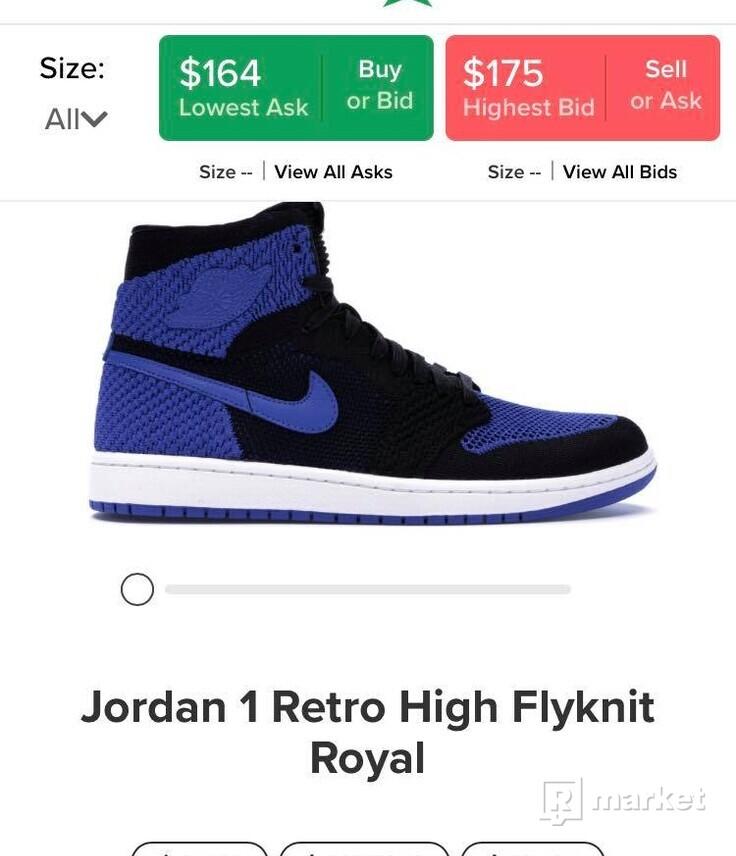Jordan 1 Retro High Flyknit Royal