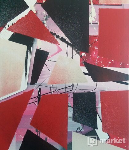Abstract painting on canvas by Spieler