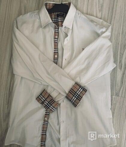 Burberry biela košeľa