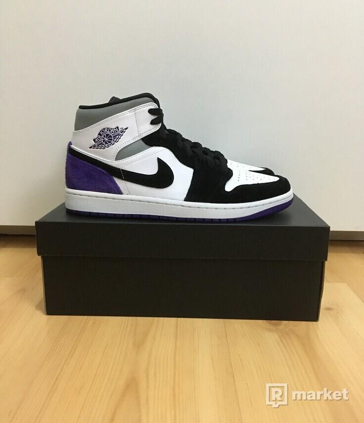 Jordan 1 Mid Union Purple [40,41,42]