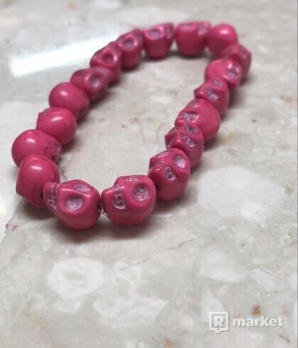 Pink skull bracelet