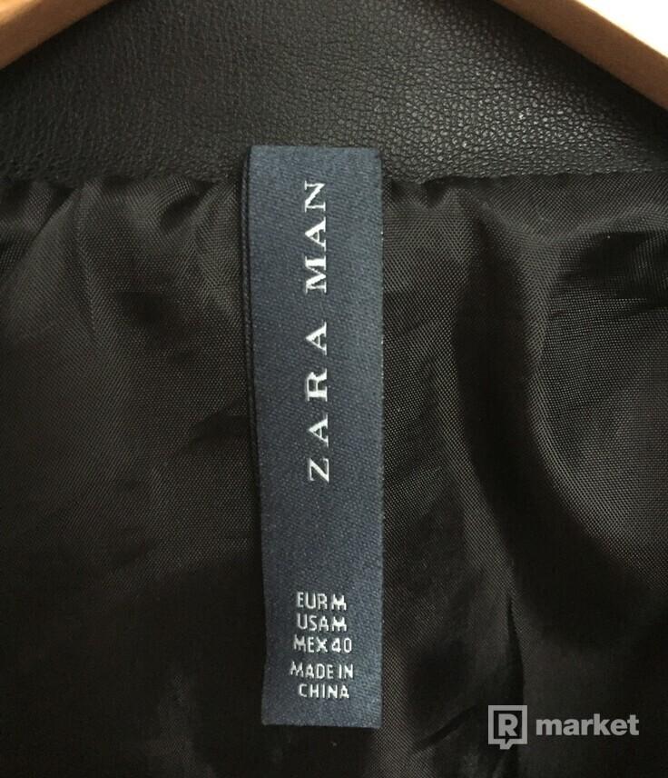 Zara čierna kožená bunda