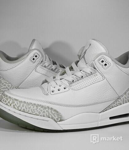 "Air Jordan Retro 3 ""Pure White"""