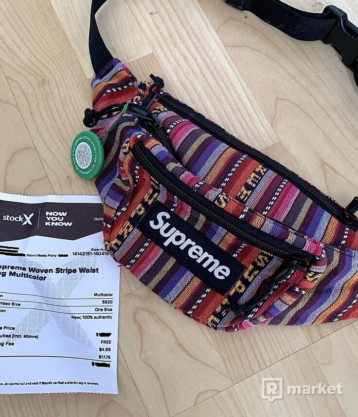 Supreme Woven Stripe waist bag