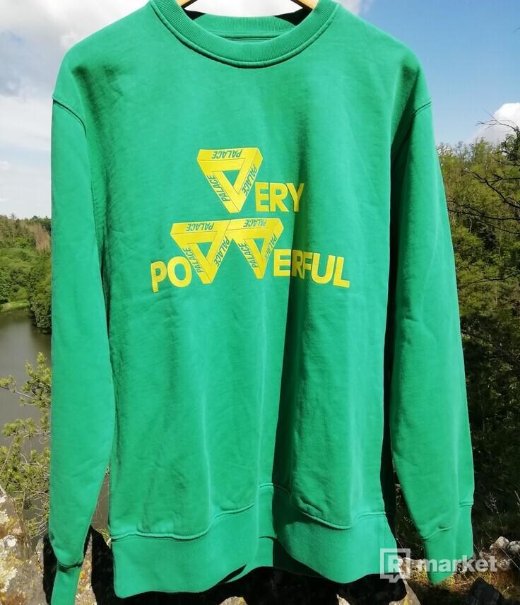 Palace power crewneck green