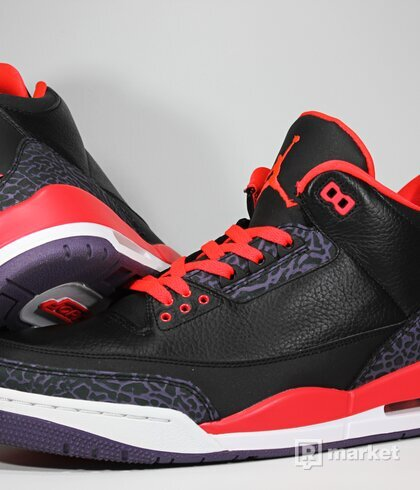"Air Jordan Retro 3 ""Bright Crimson"""