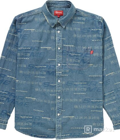 Supreme dimensions logo denim shirt