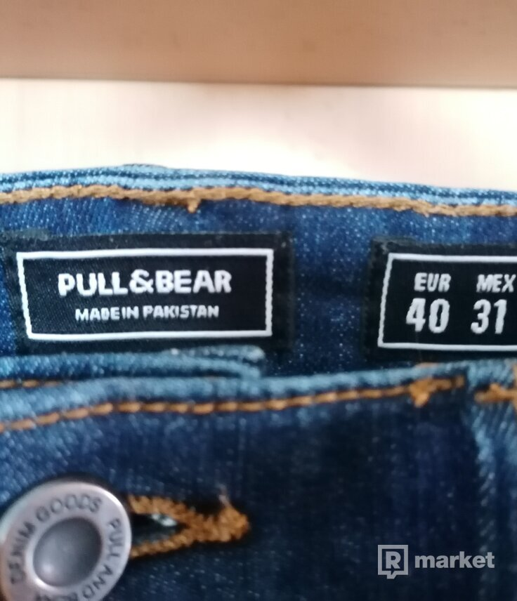 Pull & Bear rifle modré