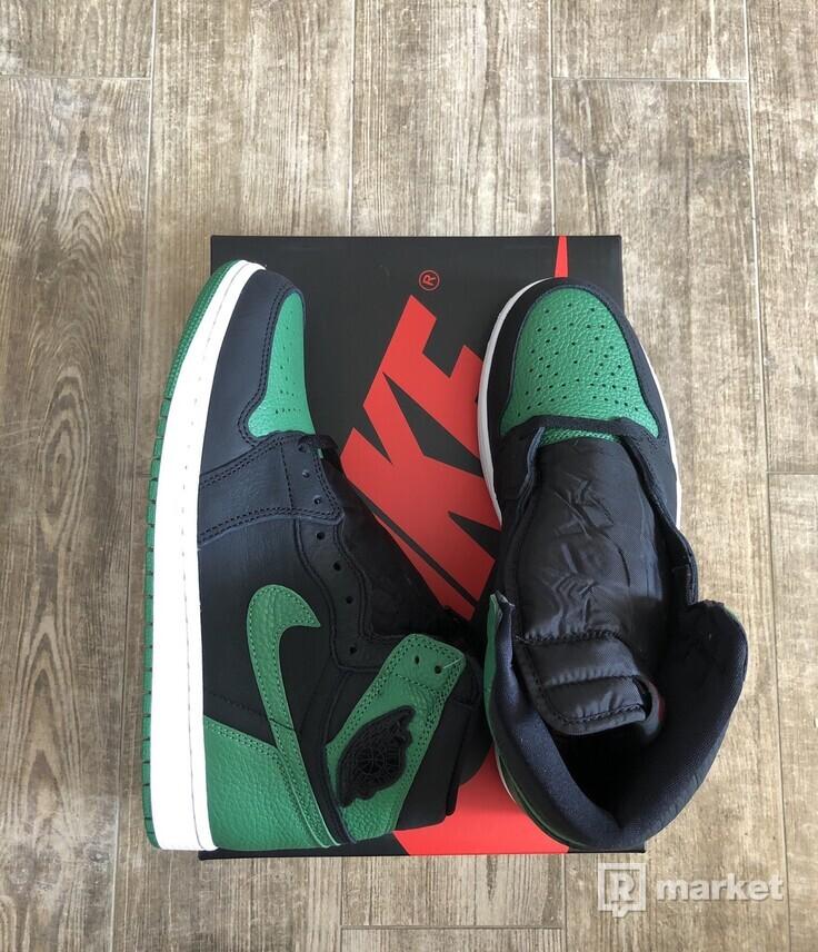 Jordan 1 Retro High Pine Green Black