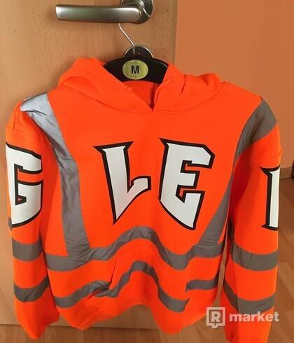 GLEB NEON REFLEX ORANGE HOODIE  L