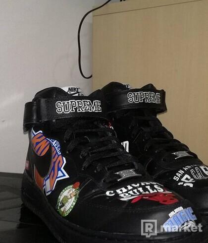 NBA AF1 SUPREME BLACK 44EU
