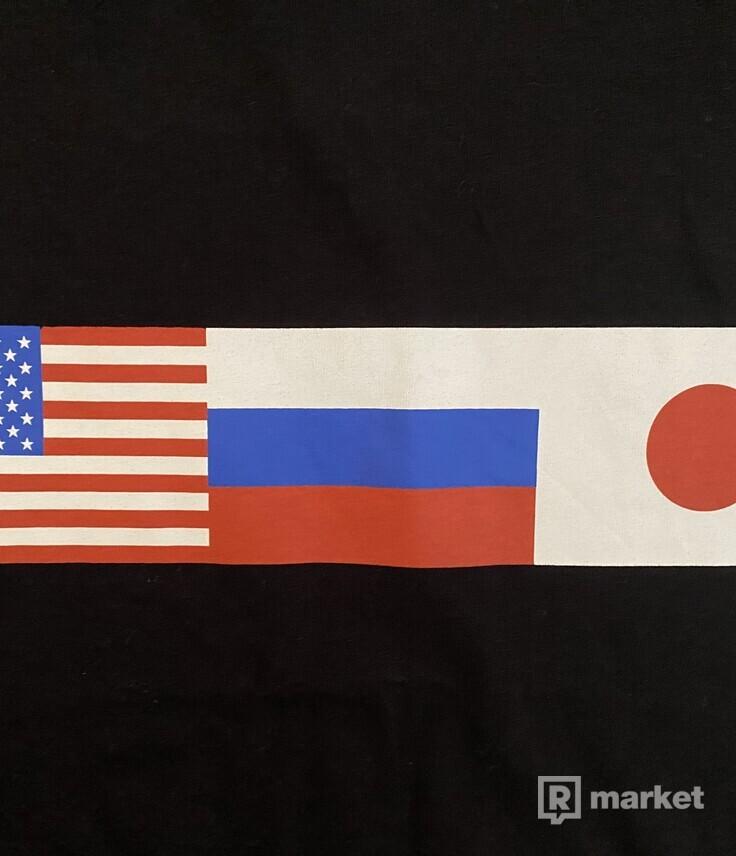 Gosha Rubchinskiy flag tee černé