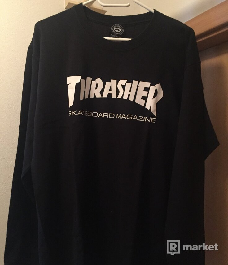 Thrasher LS tee Black