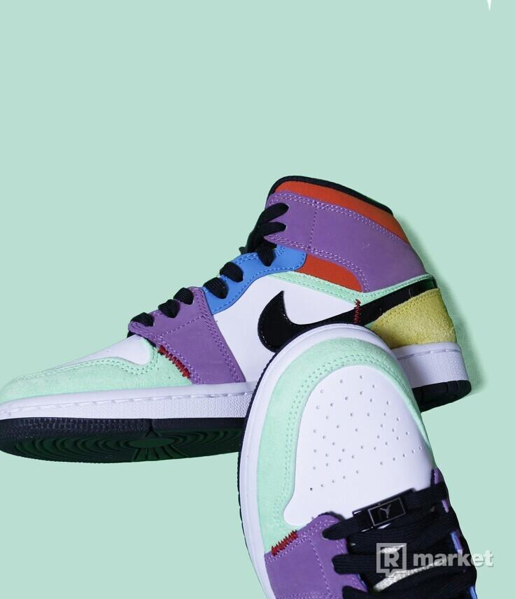 Air Jordan 1 mid multicolour