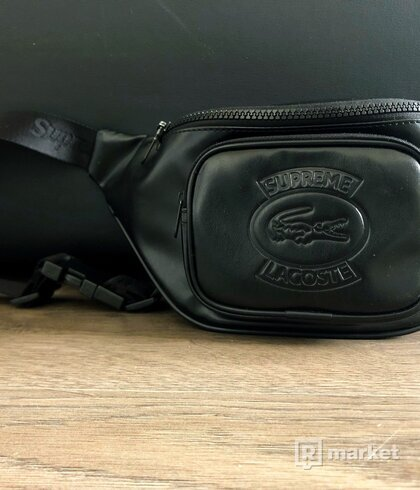 SUPREME x LACOSTE Waist Bag Black