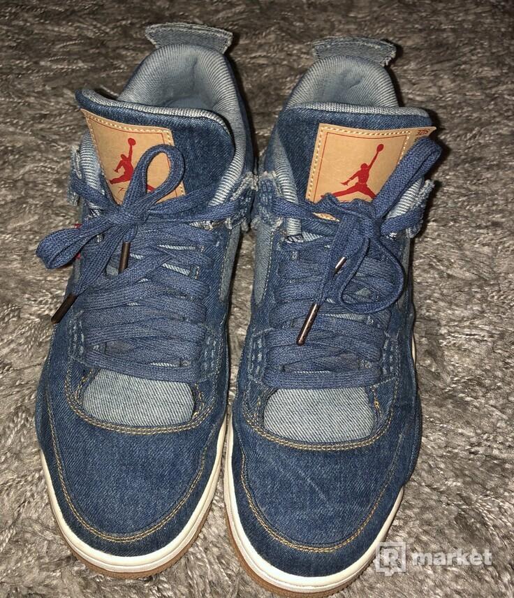 Jordan 4 x Levis Blue Denim