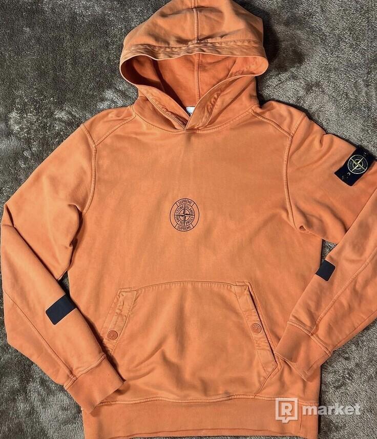 Stone Island hooded Sweatshirt Orange