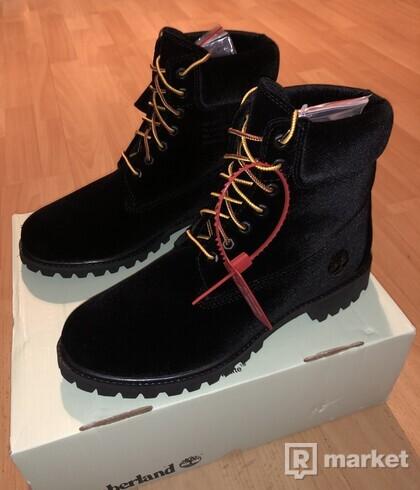 """Timberland X Off-White Black Velvet 6"""" Boot"""