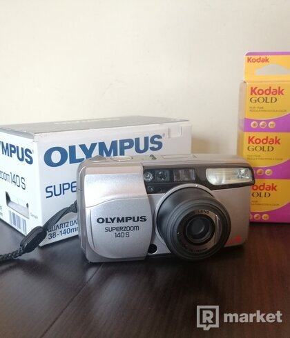 Olympus Superzoom 140s + 3x film vlastného výberu