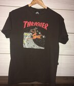 Thrasher Tee Brown