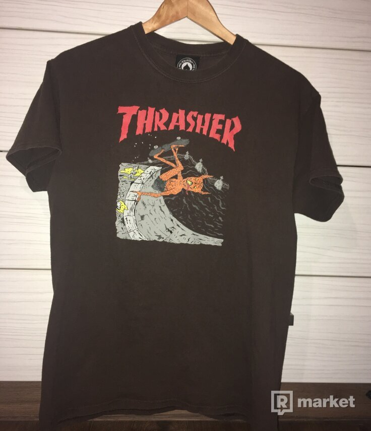 Thrasher Tee Brown