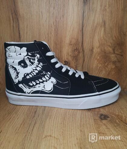 Vans Sk8-Hi Tm Glow Skull Black/White