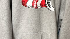 """Supreme """"cat in the hat """" hoodie"""