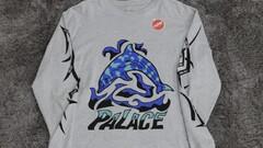 Palace Dolphin Longsleeve Tee Grey