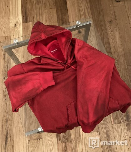 Supreme Spray Hooded Sweatshirt Red