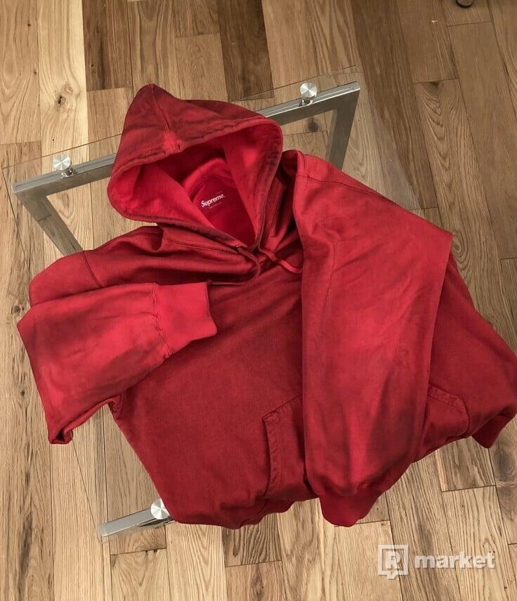 Supreme Spray Hooded Sweatshirt Red