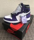 Jordan 1 Retro High Court Purple White US8.5/EU42