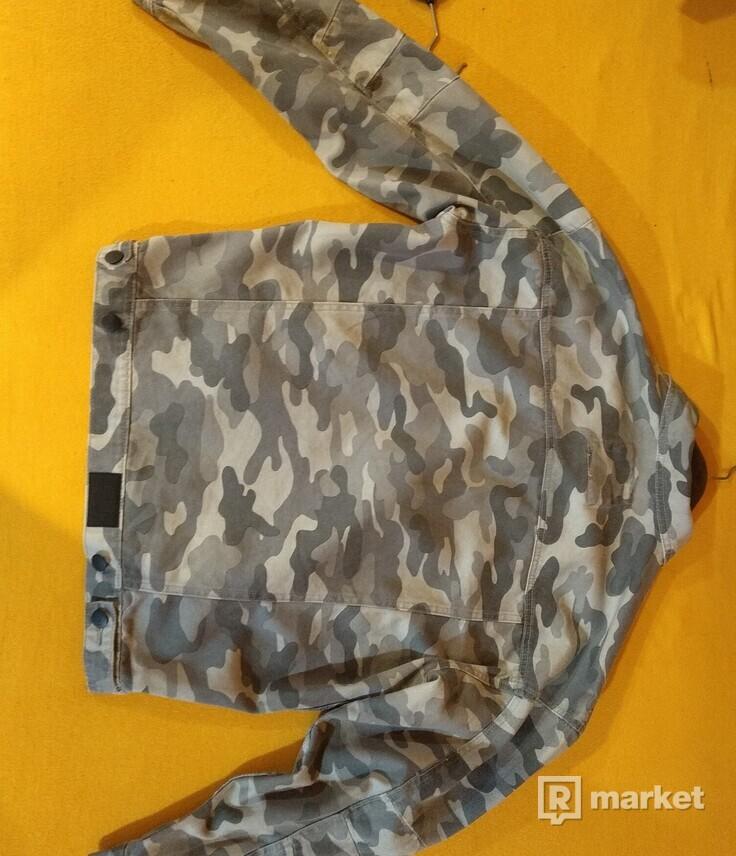 Rifľová bunda CAYLER & SONS C&s BL ALLDD DENIM TRUCKER JACKET Camo Grey