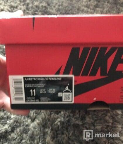 Nike JORDAN 1 HIGH FEARLESS US11/ EUR 45