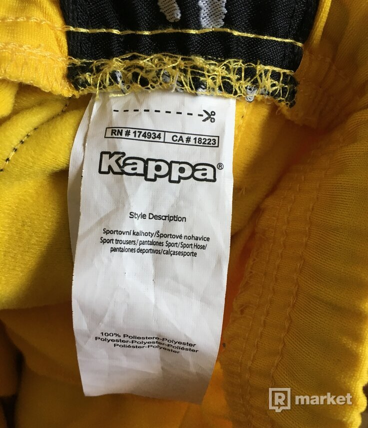 tepláky KAPPA yellow