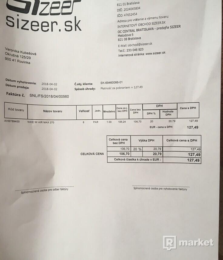 Nike AIRMAX 270 woman