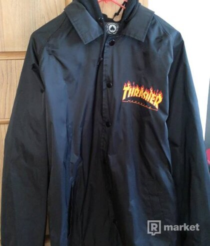 Thrasher Flame Logo Coach Jacket