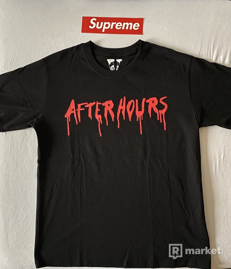 "Vlone x The Weeknd ""After Hours Blood Drip"" Tee black"
