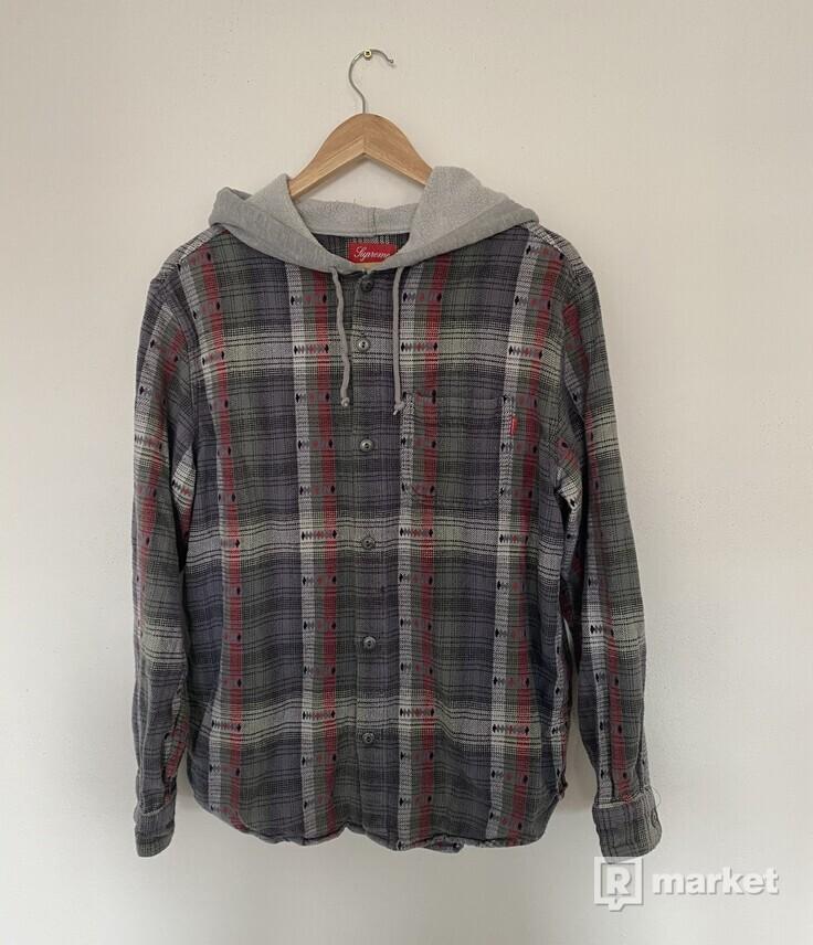 Supreme Hooded Flannel Shirt