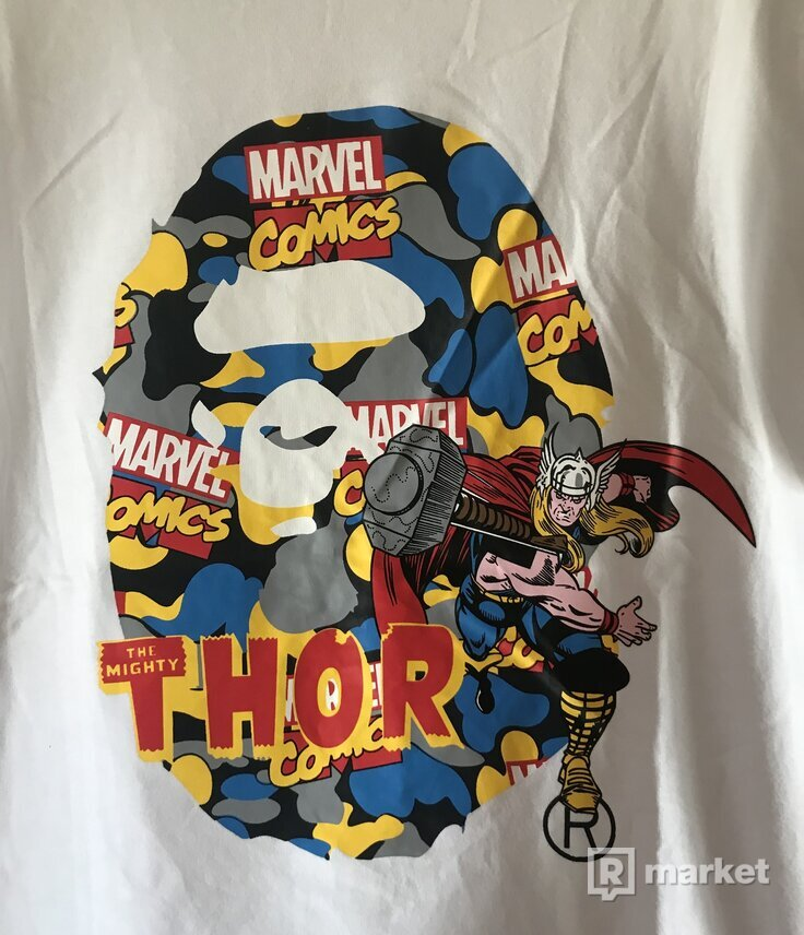 Bape x Marvel thor tee