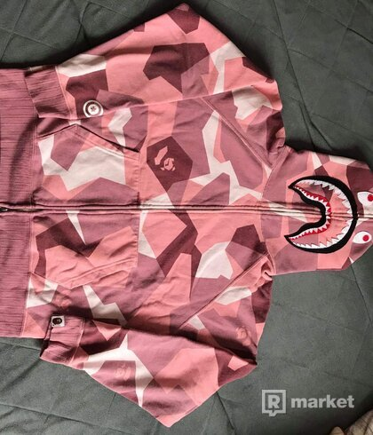 Bape splitner camo shark full zip