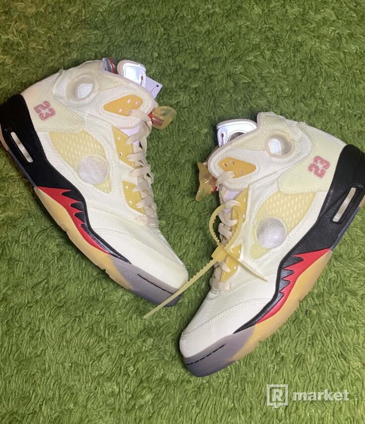 Jordan 5 Off white