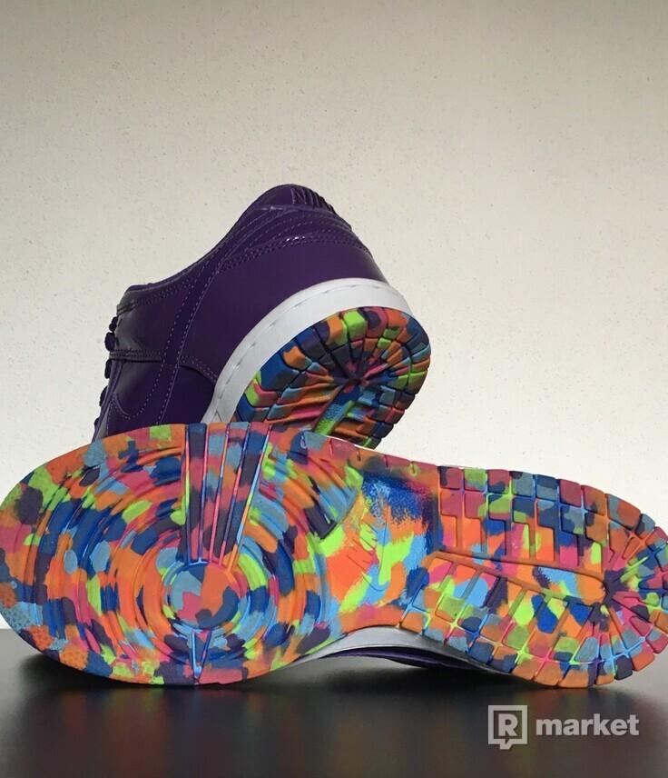 Nike Dunk Low Women Purple White Rainbow Sole