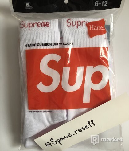 Supreme Hanes Crew socks
