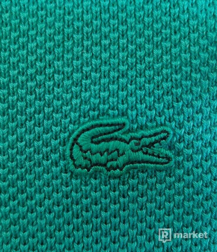 Lacoste svetr tyrkysový, 990 Kč