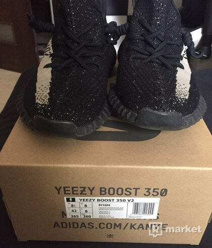 adidas Yeezy Boost 350 V2 Core Black White oreo